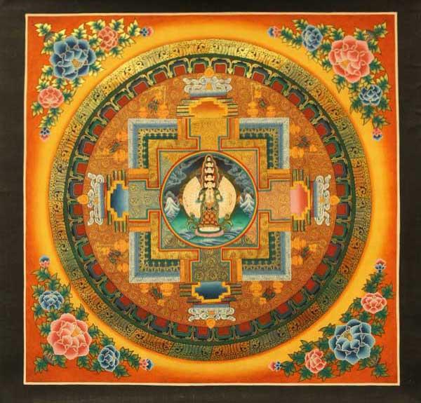 Буддийская Мандала Авалокитешвары