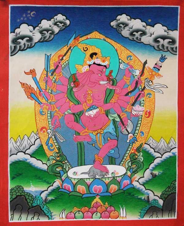 Буддийская тханка Ганеша