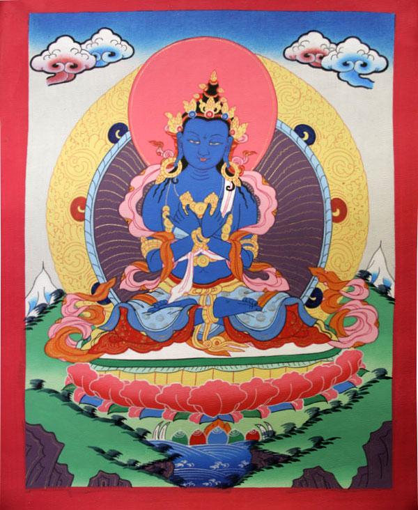 Буддийская тханка Ваджрадхара