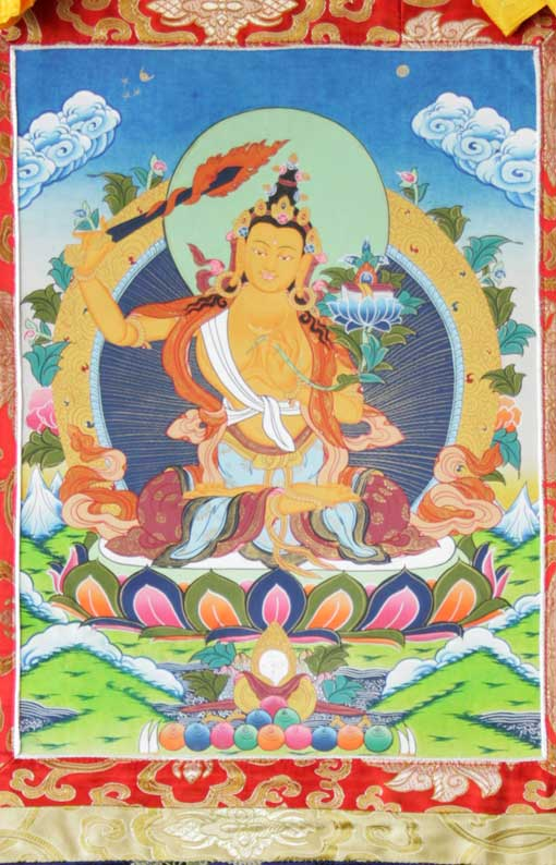Буддийская тханка Манджушри
