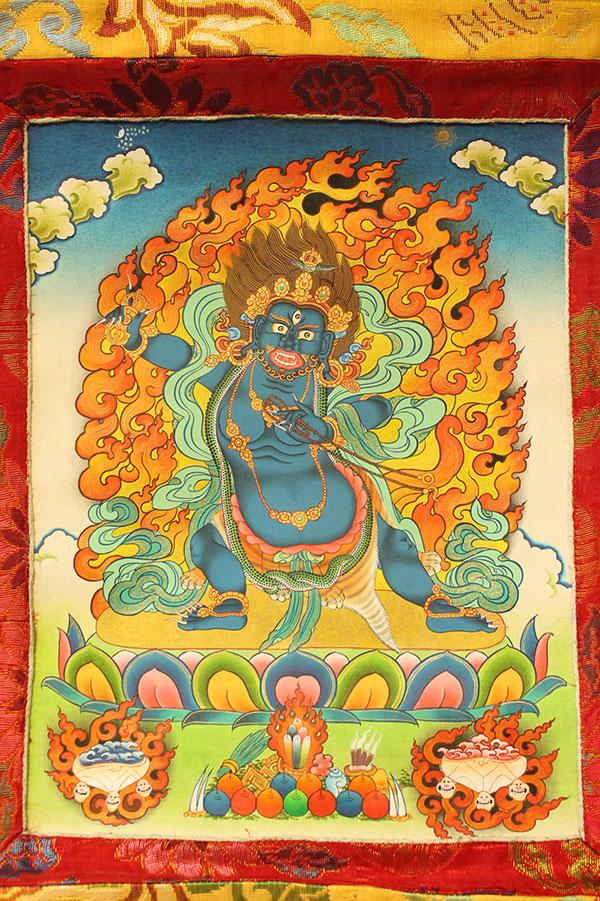 Буддийская тханка Бодхисаттва Ваджрапани