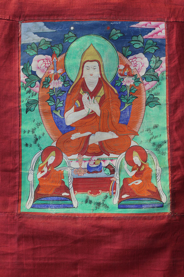 Буддийская тханка Цонкапа