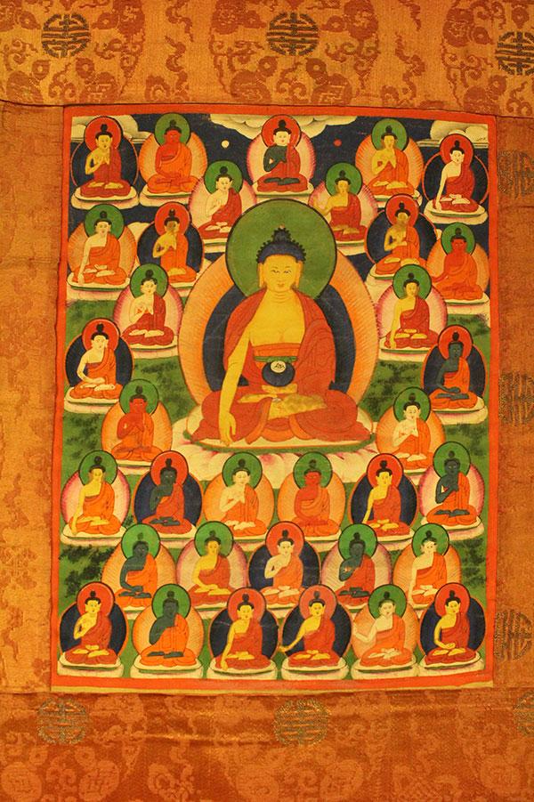 Буддийская танка 35 Будд