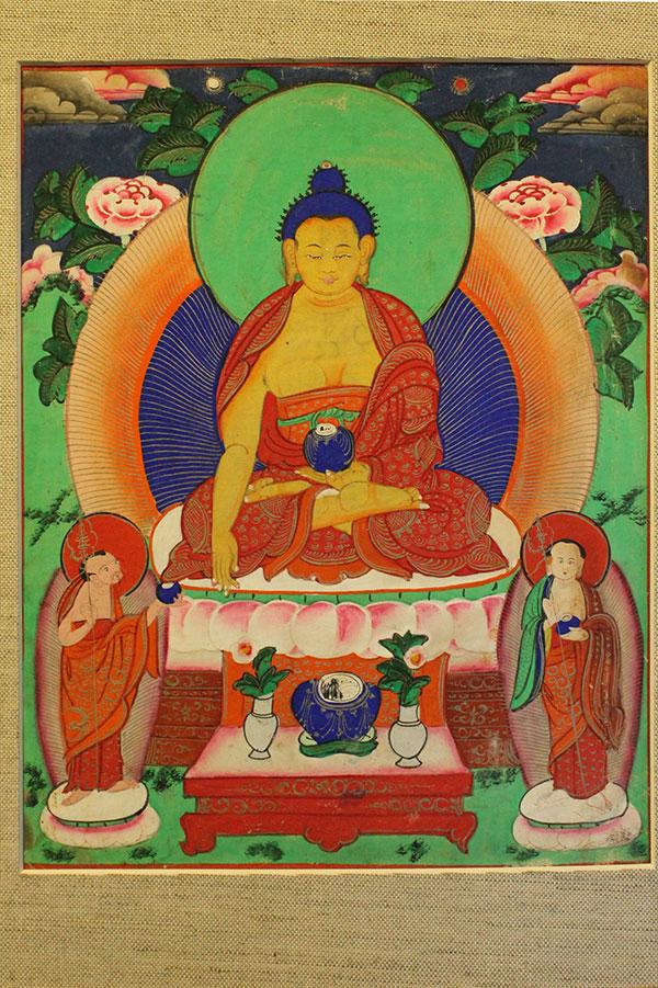 Буддийская танка Будда Шакьямуни