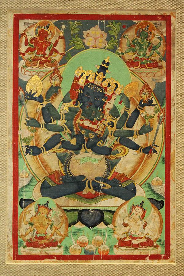 Буддийская живопись Гухьясамаджа