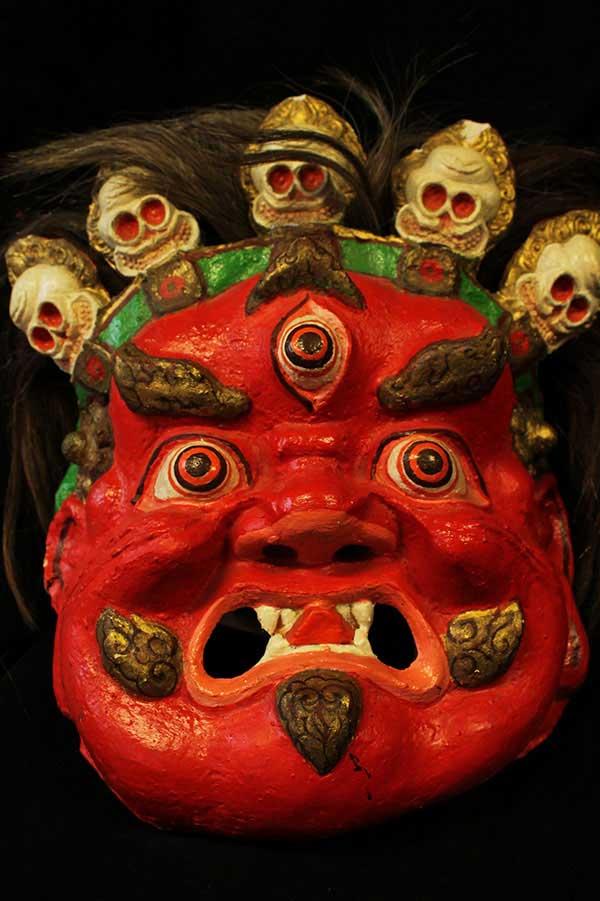 Тибетская ритуальная маска Джамсаран