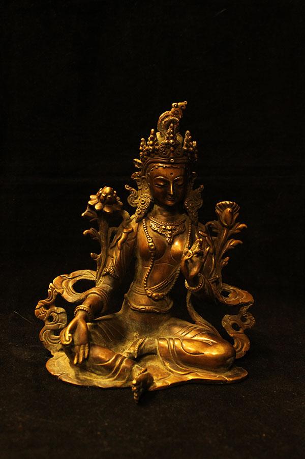 Буддийская статуэтка Зеленая Тара