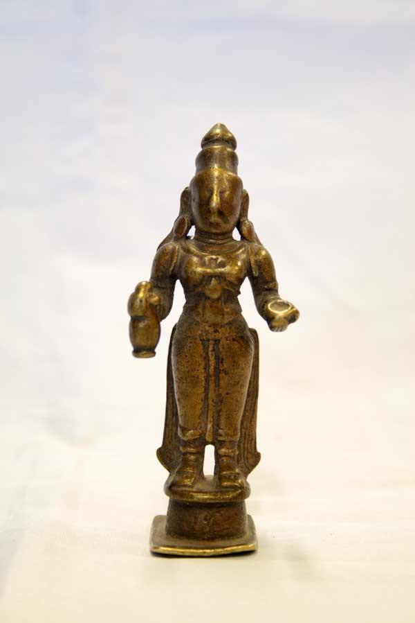 Индийская антикварная статуэтка богиня лакшми
