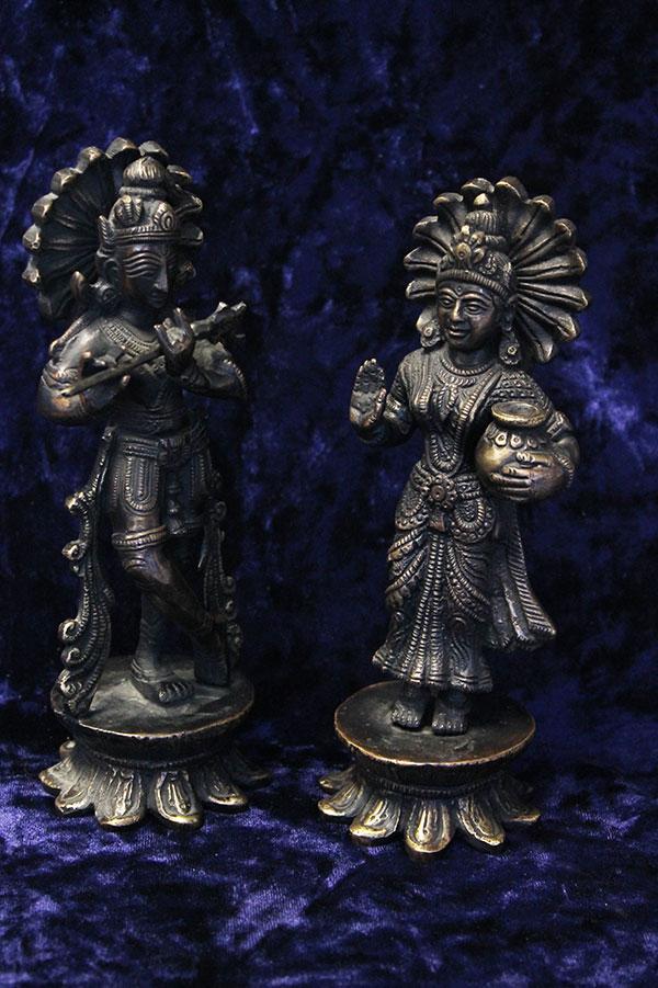 Бронзовые статуэтки, Кришна и Радха