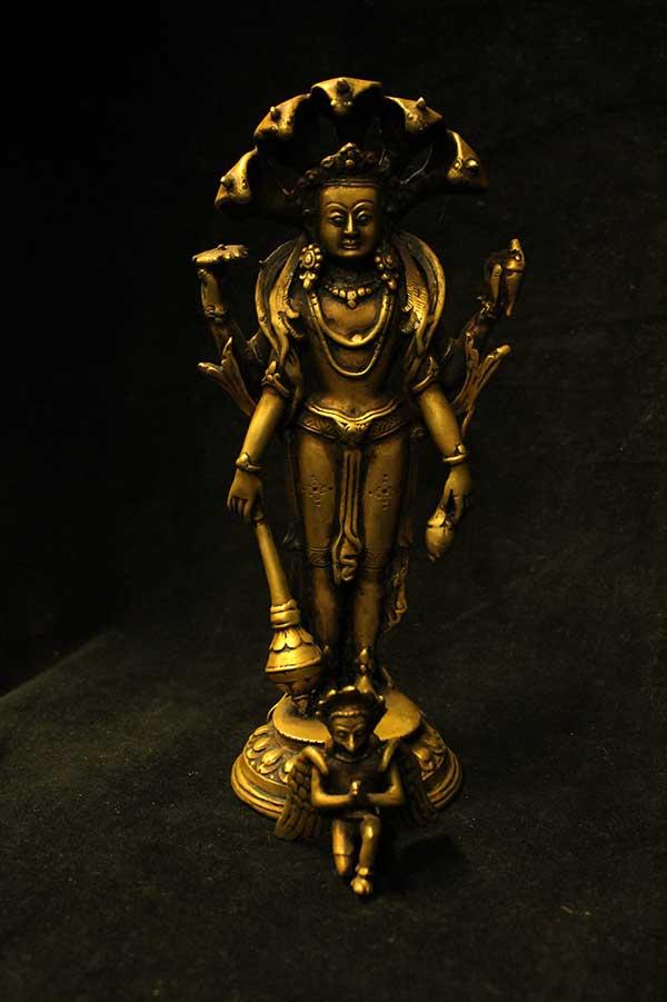 Индийская статуэтка, мурти господа Вишну