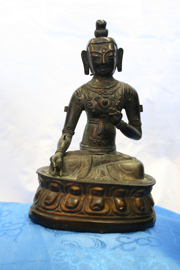 Буддийская антикварная статуэтка Белая Тара
